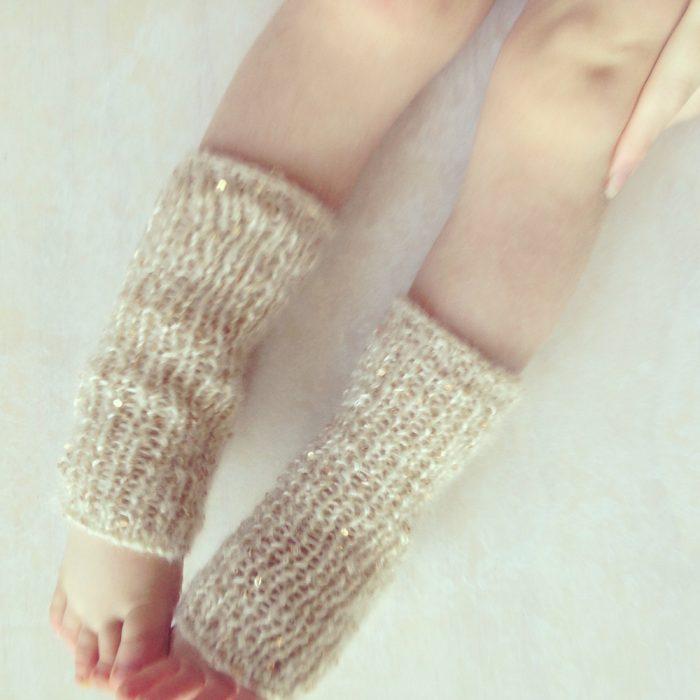 Baby girl sequinned leg warmers