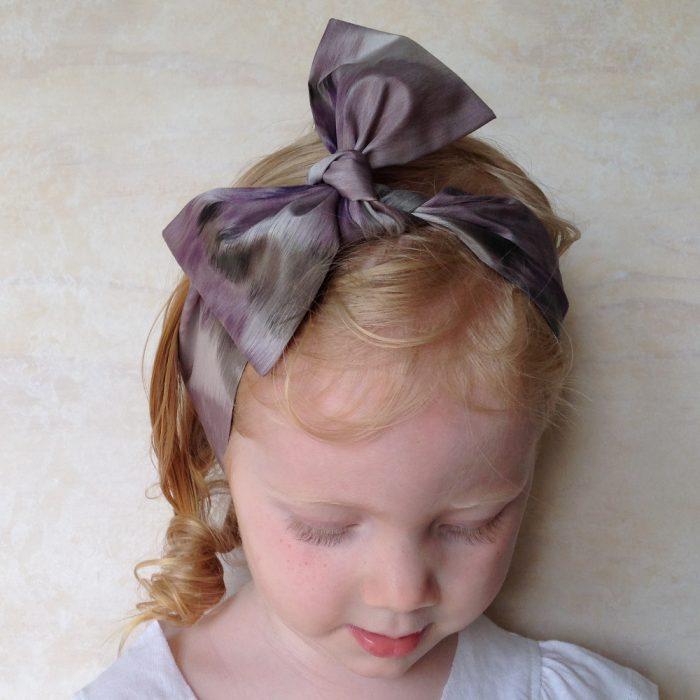 Girls silk head wrap scarf