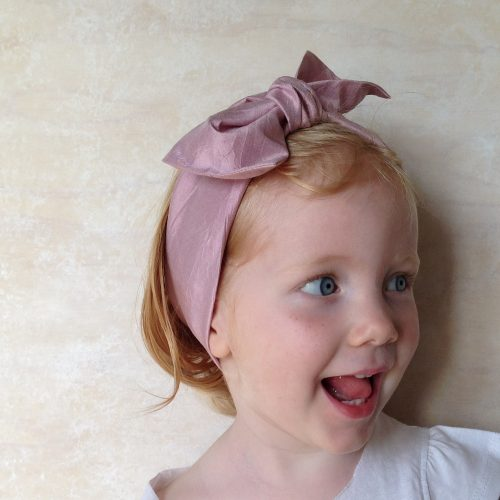Girls Silk head wrap scarf