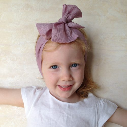 Girls silk head wrap scarf in silver lavender #m