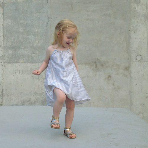 Girls Summer beach Dress - silver linings #makeforgood