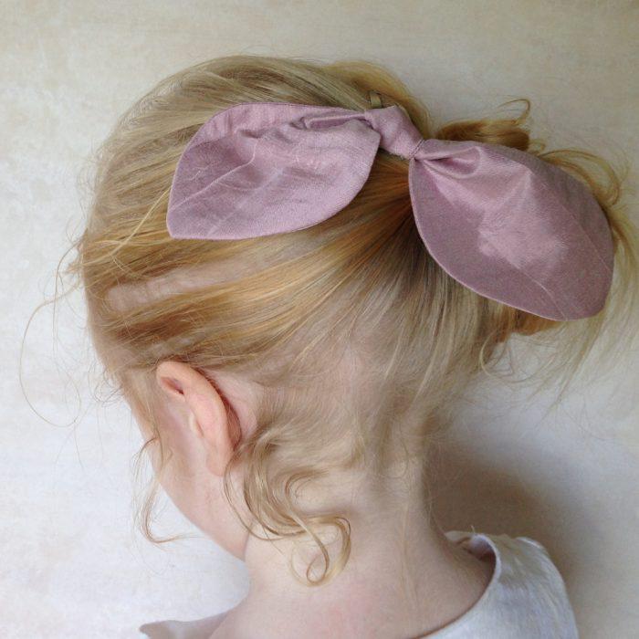 silk bow hair clips