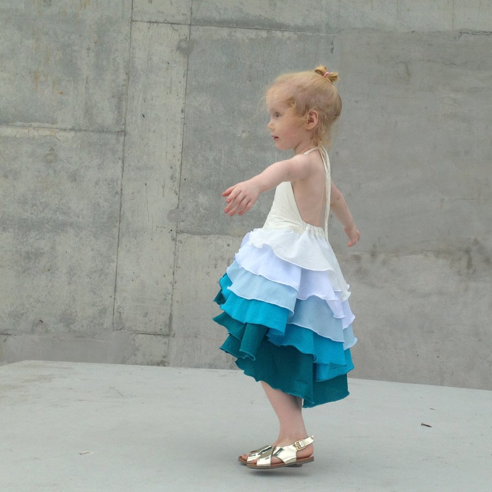 Acqua girls party beach flamenco summer dress