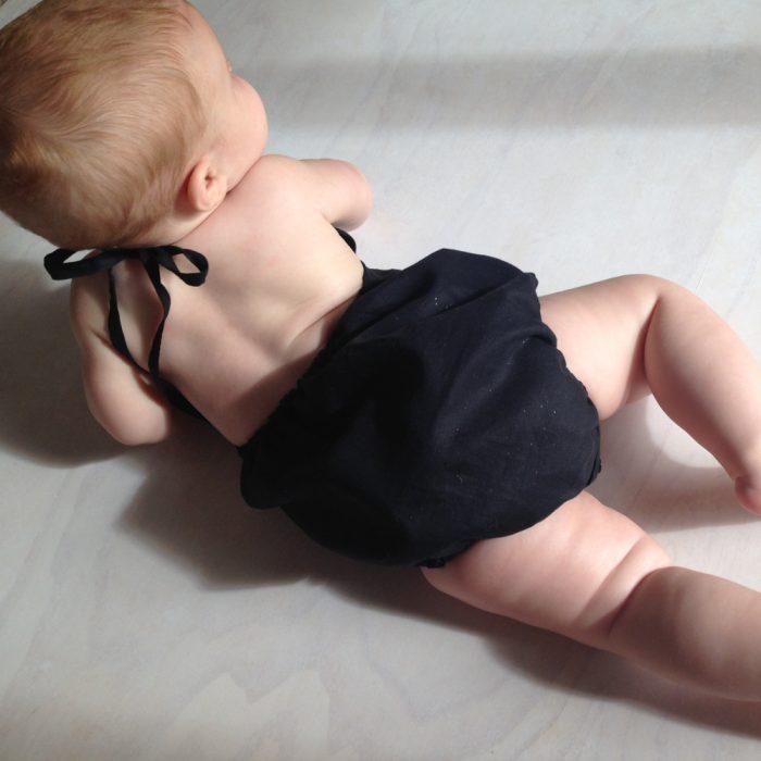 baby girls little black onesie playsuit romper