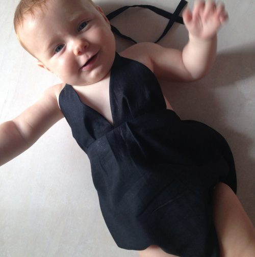 baby girls little black onesie playsuit romper
