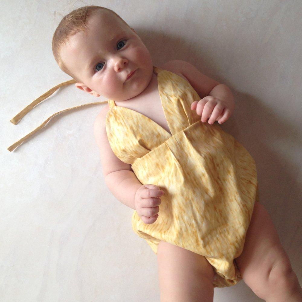 baby girls halter playsuit onesie romper