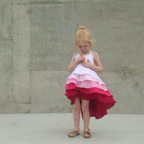 raspberry ombre flamenco dress summer party