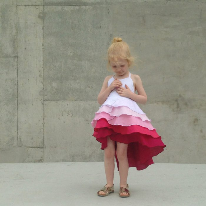 raspberry ombre flamenco dress summer party
