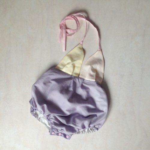 Baby girls sunrise halter suit onesie