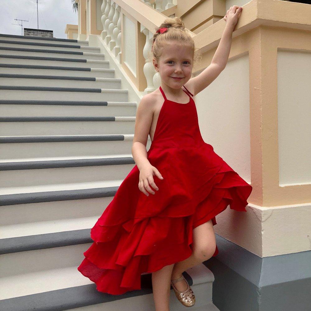 Halter flamenco dress
