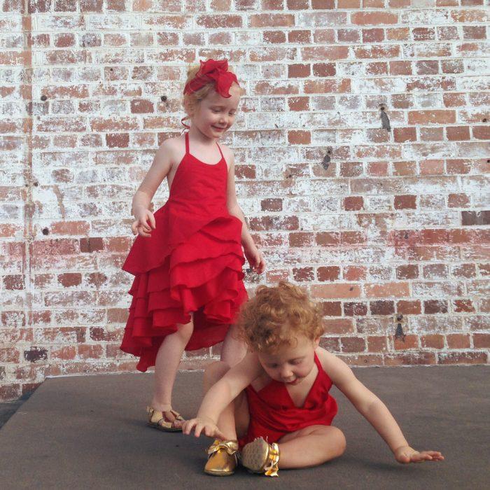 baby girls christmas xmas onesie flamenco dress set
