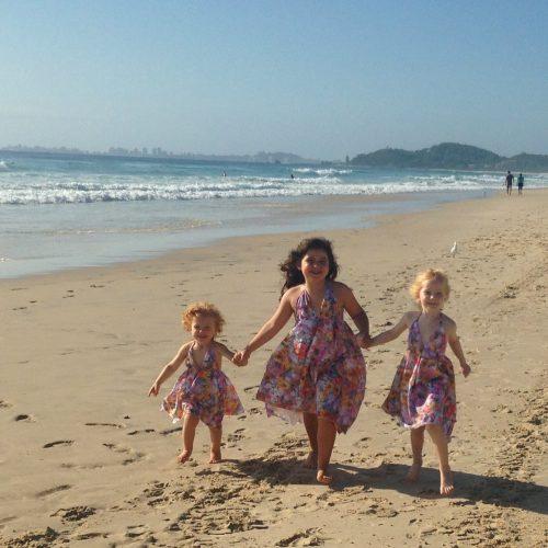 girls autumn beach dress