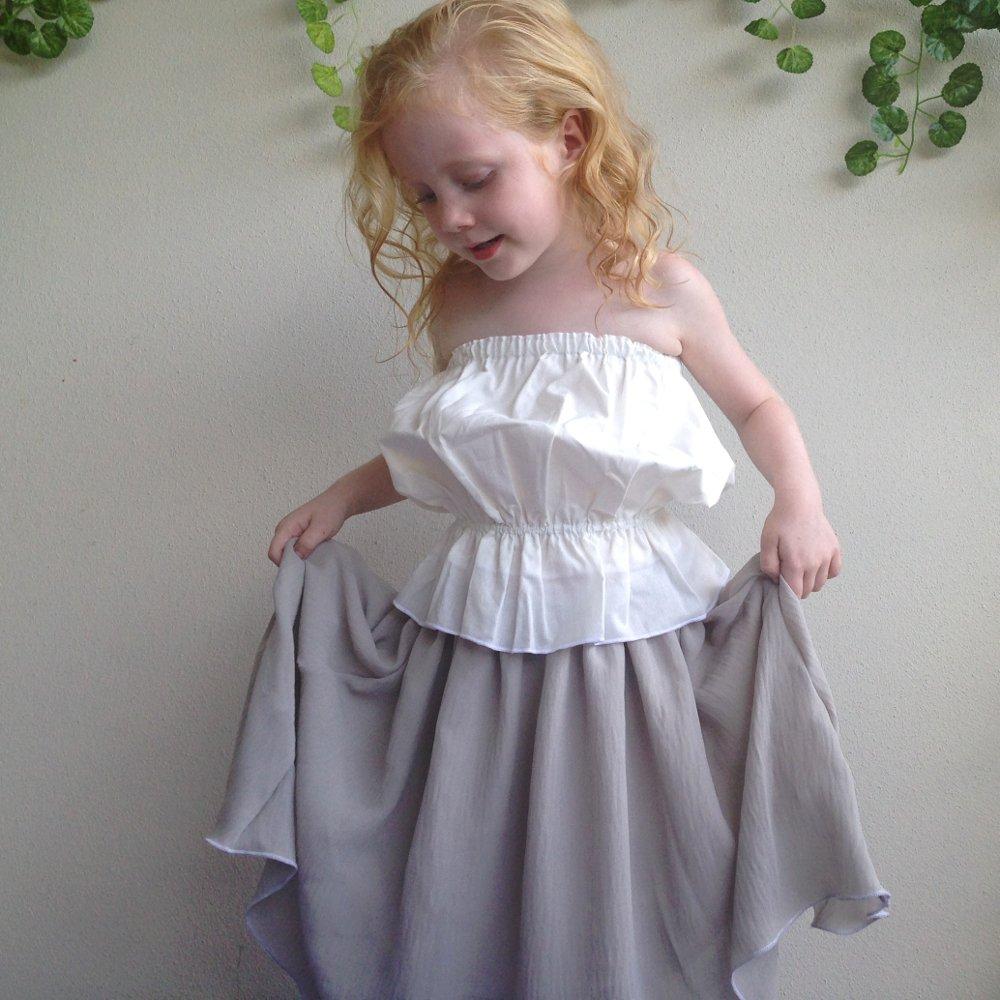 girls waterfall boho beach skirt
