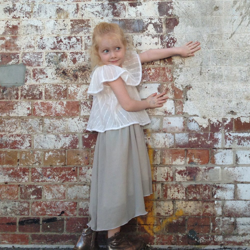 girls beach boho waterfall chiffon skirt