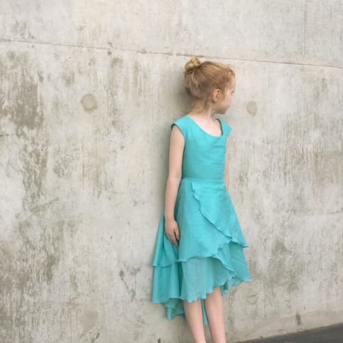 girls pure cute flamenco dress bow back