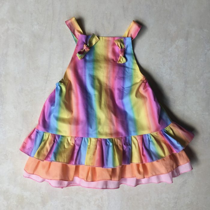 baby girls rainbow party overalls dress