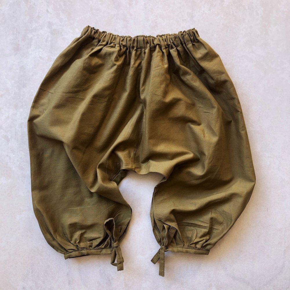 cotton khaki harem pants
