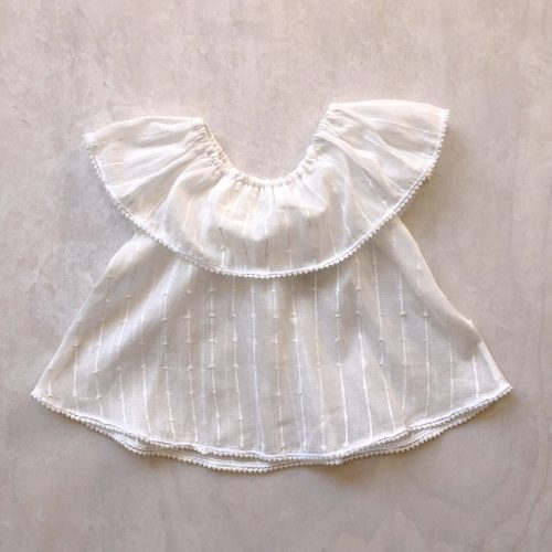 shoulder frill blouse