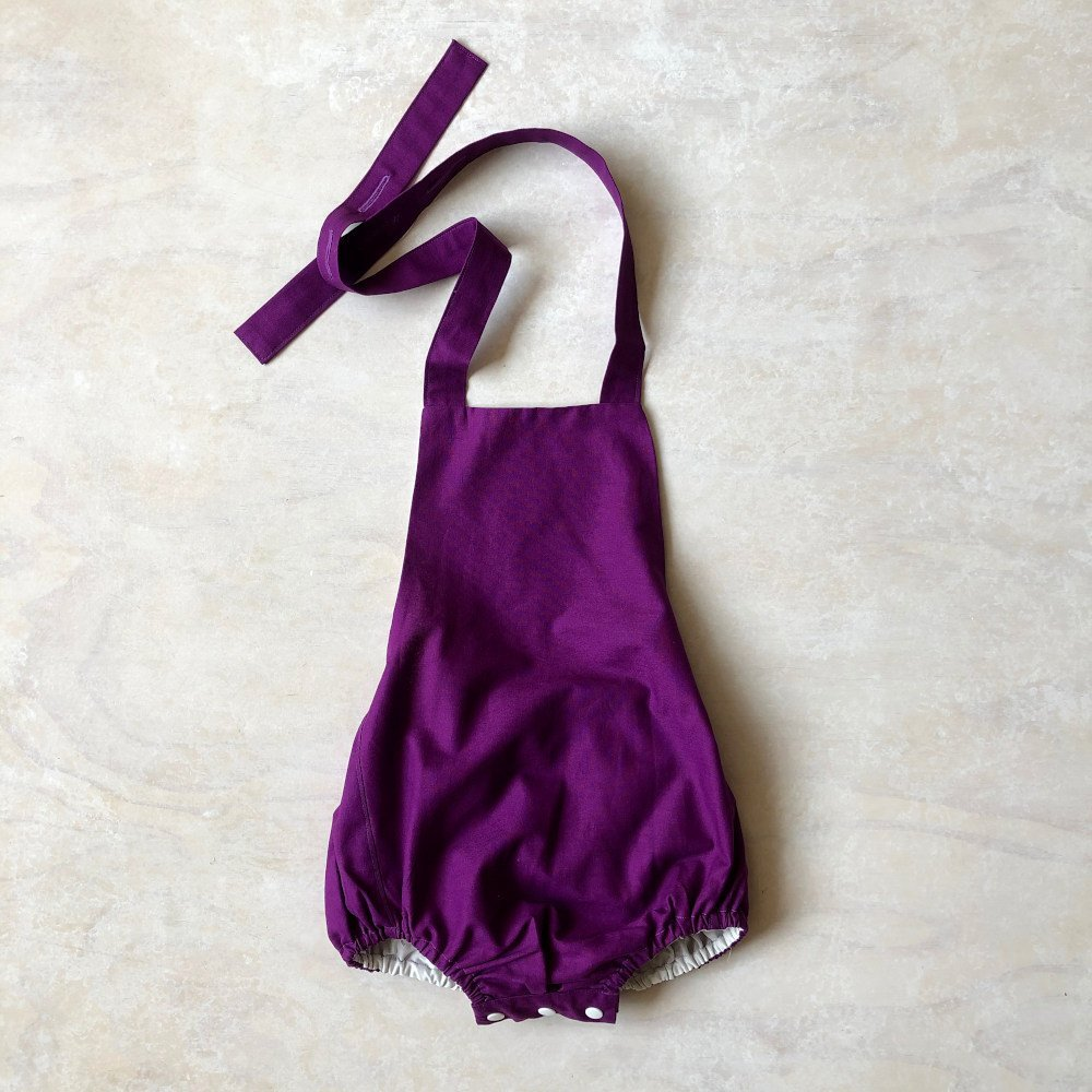 baby girls purple romper