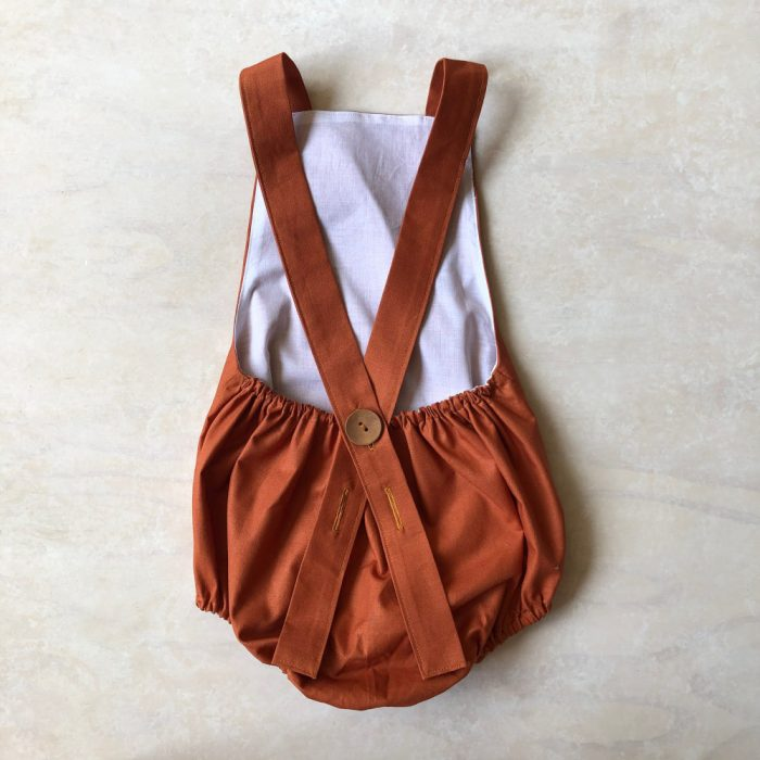 strappy rompers rust