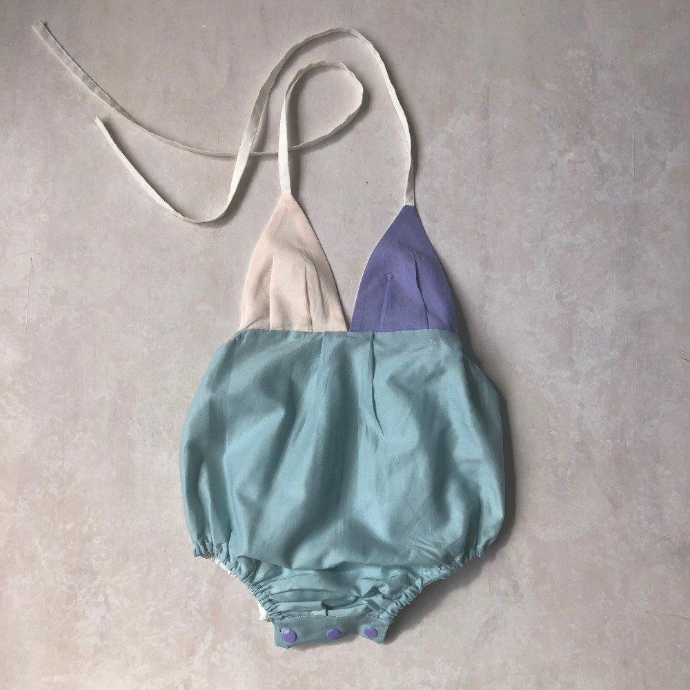 halter onesie in spearmint