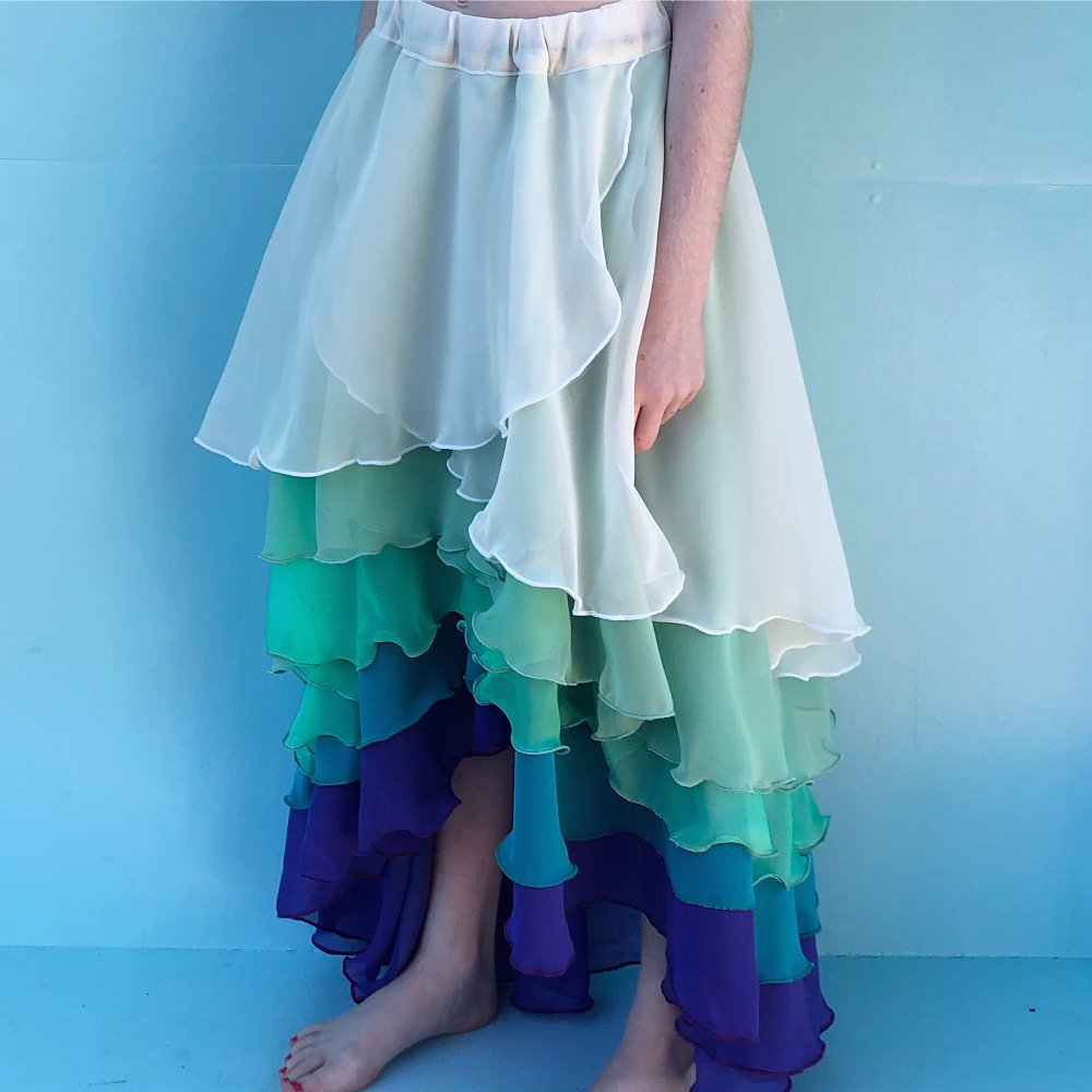 Ombre Chiffon skirt